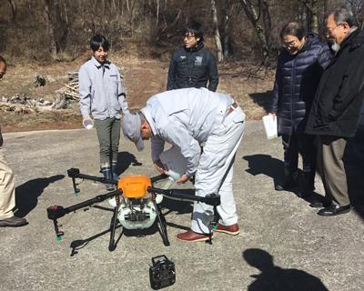 農林水産航空協会性能確認試験の様子1