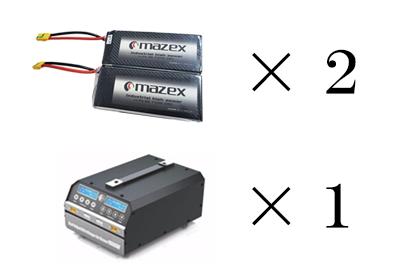 電設ドローンのバッテリーと充電器セット